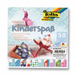 """Origami """"KIDS"""" 50 lapų 15*15 FOLIA, įvairūs motyvai"""