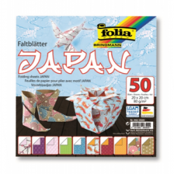 """Origami """"JAPAN"""" 50 lapų 20*20 FOLIA, įvairūs motyvai"""