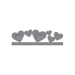 """Dekoratyvinis skylamušis Nr. 13 """"Širdelės"""" kraštui, 10 x 50 mm"""