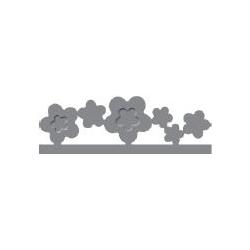 """Dekoratyvinis skylamušis Nr. 14 """"Gėlės"""" kraštui, 10 x 50 mm"""