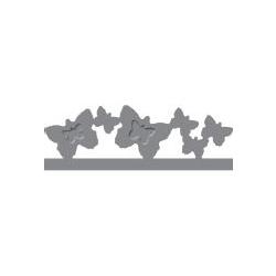 """Dekoratyvinis skylamušis Nr. 15 """"Drugeliai"""" kraštui, 10 x 50 mm"""