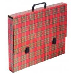"""Portfelis kartoninis A3 , """"škotiški raštai"""" Padidinti  Portfelis kartoninis A3 , """"škotiški raštai"""""""