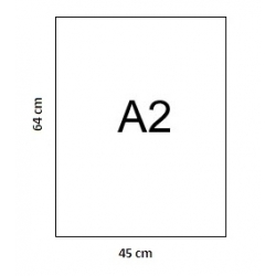 Popierius ofsetinis A2 (46x64cm), 250gr., 1 lapas