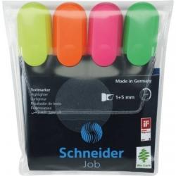 Teksto žymekliai SCHNEIDER JOB, 1-5 mm, 4 spalvų rinkinys