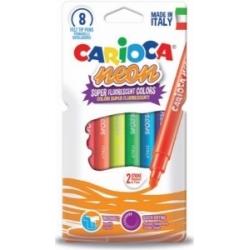 Flomasteriai NEON CARIOCA , 8 spalvų
