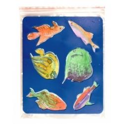 """Trafaretai piešimui LUČ """"Akvariumo žuvytės"""""""
