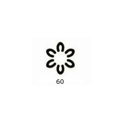 "Dekoratyvinis skylamušis Nr. 60 ""3D gėlė"", 16 mm."