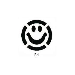 """Dekoratyvinis skylamušis Nr. 54 """"Šypsenėlė"""", 25 mm."""