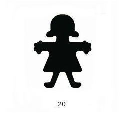 "Dekoratyvinis skylamušis Nr. 20 ""Mergaitė"", 38 mm."