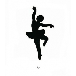 "Dekoratyvinis skylamušis Nr. 34 ""Balerina"", 50 mm."