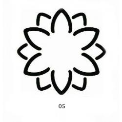 "Dekoratyvinis skylamušis Nr. 05 ""3D gėlė"", 50 mm."