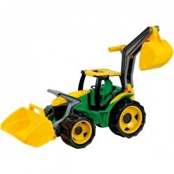 """Galingas traktorius-ekskavatorius """"Lena"""" žalias"""