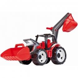 Galingas traktorius-ekskavatorius