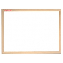 Balta magnetinė lenta mediniu rėmu 40x60cm