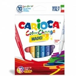Flomasteriai CARIOCA Magic, 9 spalvų+1 flomasteris keičiantis spalvą