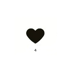 "Dekoratyvinis skylamušis ""Širdis Nr.4"", 16 mm."