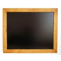 Kreidinė lenta lakuotu rudu mediniu rėmu 96 x 66,5 cm