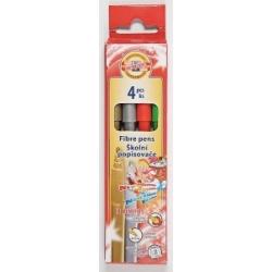 Flomasteriai Metallic Koh-I-Noor, 4 spalvų