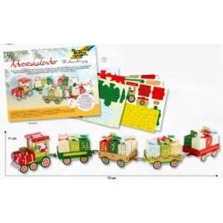 """Kūrybinis rinkinys """"Kalėdinis traukinys"""" FOLIA, 60 dalių"""
