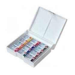 """Akvarelinių dažų rinkinys """"Belye noči"""" plastikinėje dėžutėje, 12 spalvų"""