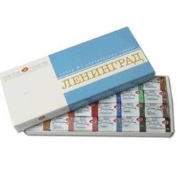 """Akvarelinių dažų rinkinys """"Leningrad-1"""" kartoninėje dėžutėje, 24 spalvų"""