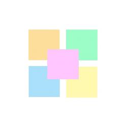 Spalvotas popierius 100lapų MIX pastelinių spalvų
