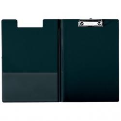 Lentelė rašymui, A5 formato, su užvartu ir spaustuku, juodos spalvos