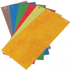 Skirtukai dokumentams 11×23 cm., 50 vnt. dvipusiai, spalvoto kartono