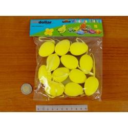 Polistirolo kiaušinių rinkinys 12vnt. 4x3cm  geltonos spalvos
