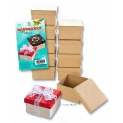 Dėžutės dovanoms kvadratinės MINI 1 vnt., rudos spalvos, FOLIA