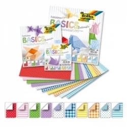 """Origami """"BASIC intensiv"""" 50 lapų 15*15 FOLIA, įvairūs motyvai"""