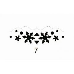 """Dekoratyvinis skylamušis kraštui Nr. 7 """"Snaigės"""" KAMEI, 25 x 50 mm."""
