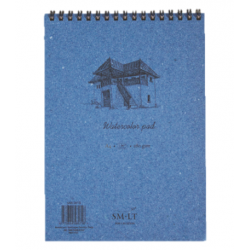 """Akvarelės bloknotas Authentic """"SMLT"""" A3, 30 lapų (280gsm), su natūralaus kartono viršeliais, kieta nugarėle ir spirale"""