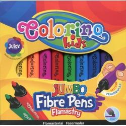 Stori tribriauniai flomasteriai Jumbo COLORINO, 10 spalvų
