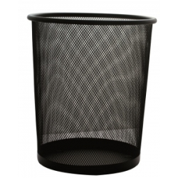 Šiukšliadėžė metalinė PROFICE, 29,5*34,5cm, juoda