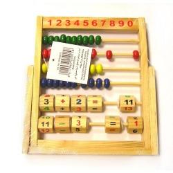 Skaitliukai mokiniui mediniai su atramėle