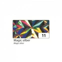 """Lipni holografinė folija rulone """"Magiškas sidabras"""" 40x100 cm., FOLIA"""