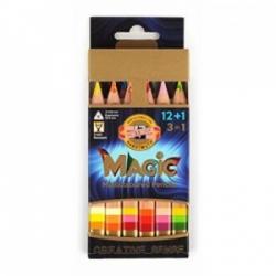 Įvairių spalvų grafito pieštukų rinkinys 3404 Koh-I-Noor, 12+1