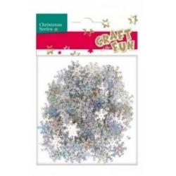 """Kalėdinė dekoracija konfeti """"Snaigės"""", 30 gr. CRAFT-FUN"""