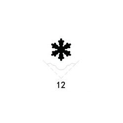 """Dekoratyvinis skylamušis KAMEI lapų kraštams Nr. 12 """"Snaigė"""", 25 mm."""