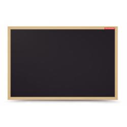 Kreidinė lenta juoda, mediniu rėmu 80x60cm.