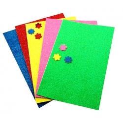 """Lipdukai """"Gėlės"""" A4 5 spalvų lapai, putgumė"""