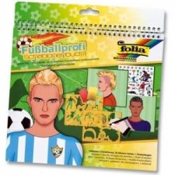 Spalvinimo knyga su trafaretais ir lipdukais, FOLIA, Futbolas 26x24cm.