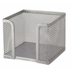 Dėžutė-laikiklis užrašų lapeliams PROFICE, sidabrinė