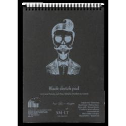 Bloknotas eskizams AUTHENTIC, juodas popierius A5, 20 lapų, 165 gr.