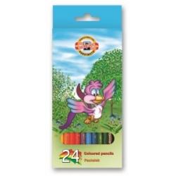 """Spalvoti pieštukai """"BIRDS"""" Koh-I-Noor, 24 spalvų"""