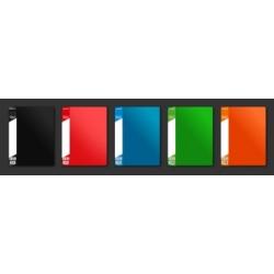 Aplankas su įmautėmis A4/20 Office Point, juodos spalvos