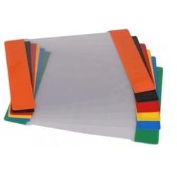 Aplankalas sąsiuviniams A5 skaidrus (spalvoti kraštai) 1 vnt.