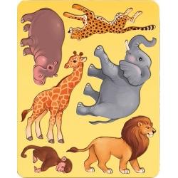 """Trafaretai piešimui LUČ """"Afrikos gyvūnai"""""""