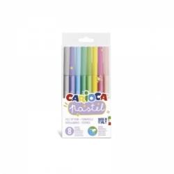 Flomasteriai PASTEL CARIOCA, 8 spalvų